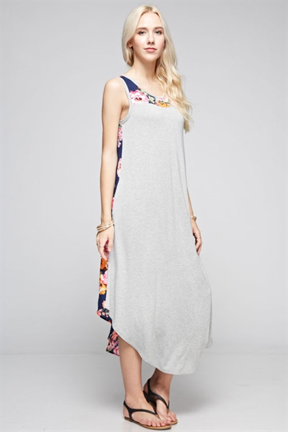 woven floral print Maxi Dress - orangeshine.com