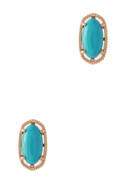 FASHION OVAL STUD EARRING - orangeshine.com