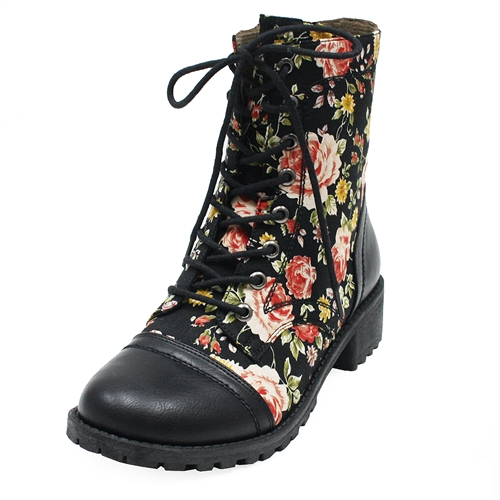 RANCH boots Flower C - orangeshine.com