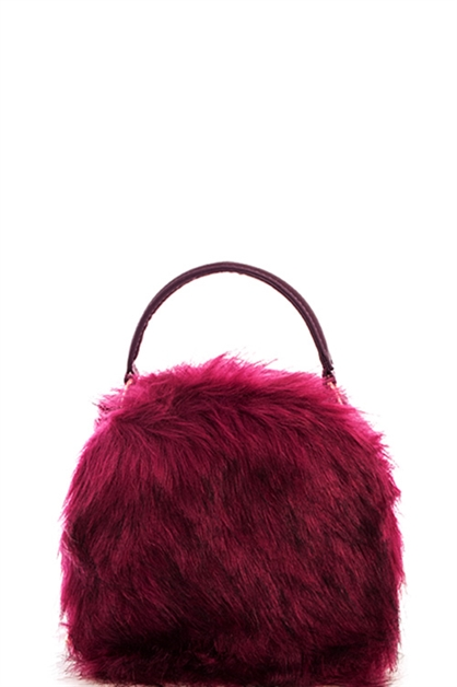 Cute Fur Shoulder Bag - orangeshine.com