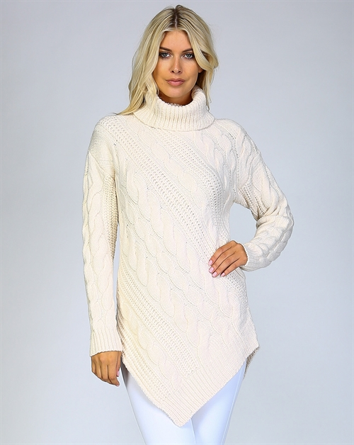 CHUNKY KNIT TURTLENECK SWEATER - orangeshine.com