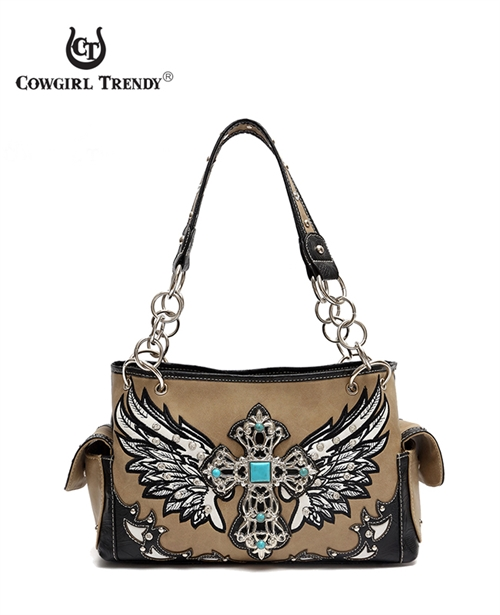 Cross with Wings Western Bag - orangeshine.com