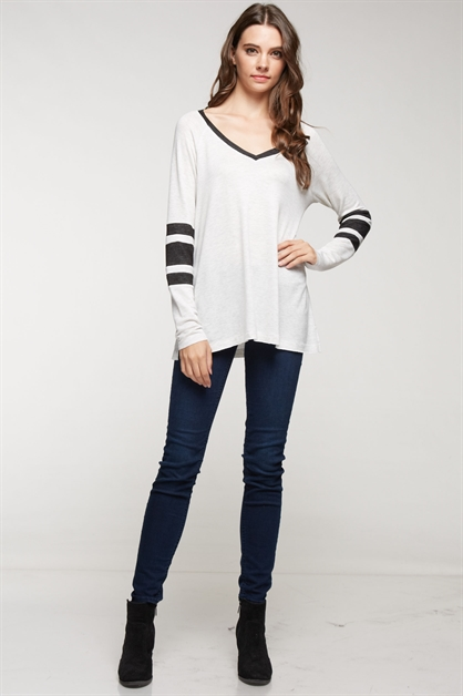 V-NECK LONG SLEEVE - orangeshine.com