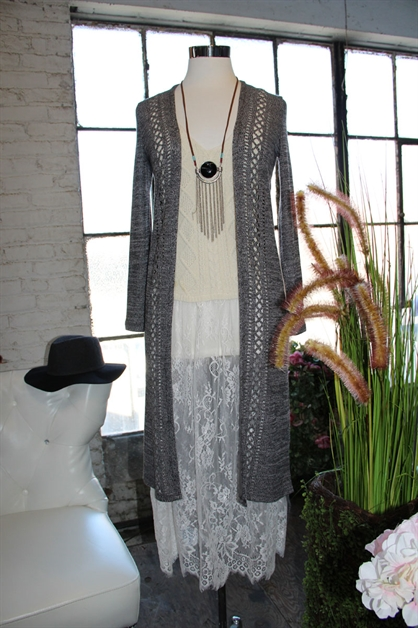 LONG UNBALANCED  CARDIGAN - orangeshine.com