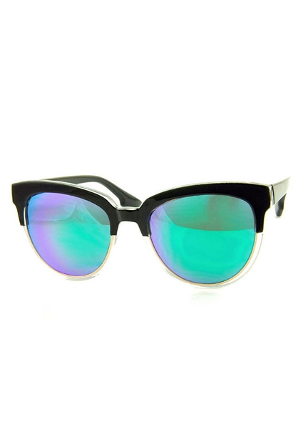 RETRO HALF FRAME SUNGLASSES - orangeshine.com