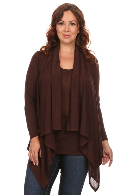 Double Layered Cardigan - orangeshine.com