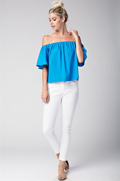 OFF SHOULDER GATHER TOP - orangeshine.com