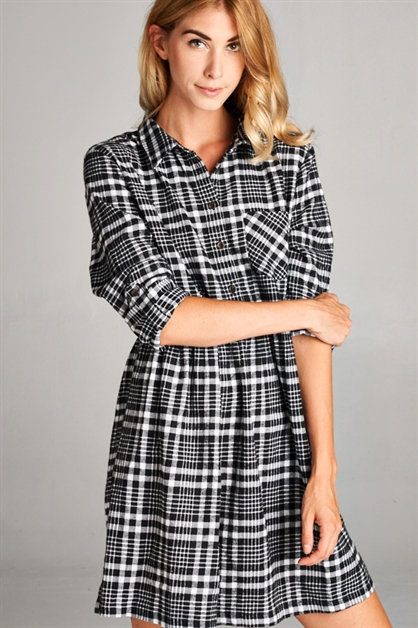 PLAID DRESS - orangeshine.com