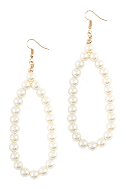 Pearl beaded drop earrings - orangeshine.com
