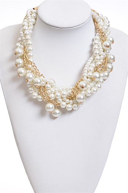 Modern Pearl Necklace - orangeshine.com