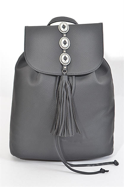 Simple Backpack With Tassel  - orangeshine.com