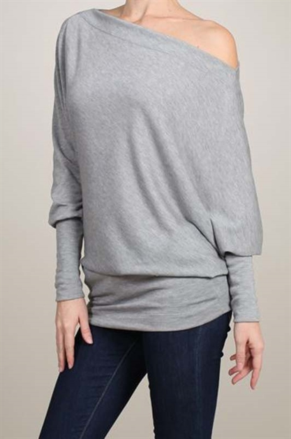 Off Shoulder Knit Sweater - orangeshine.com