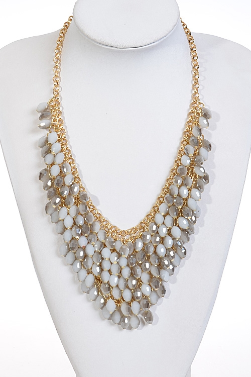 Multi Layered Shiny Necklace - orangeshine.com