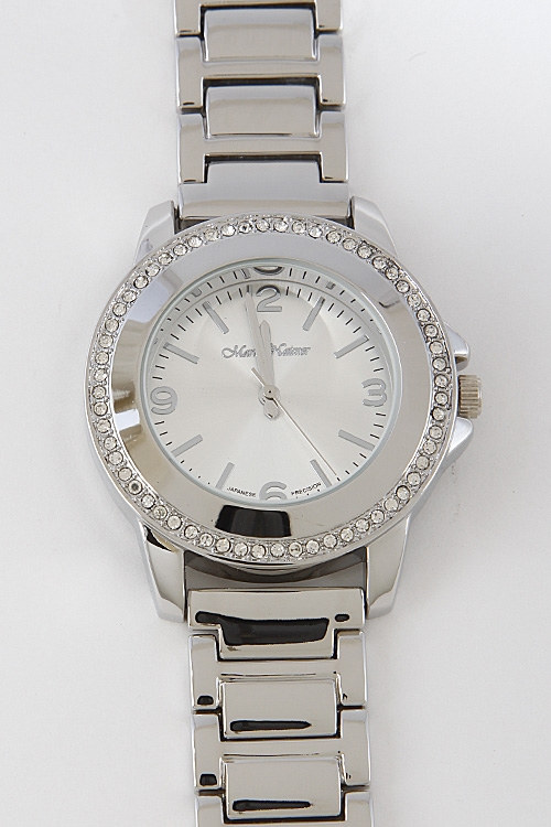 Thick Solid Rhinestone Watch - orangeshine.com