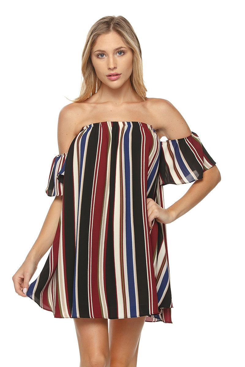 OPEN SHOULDER VERTICAL STRIPE - orangeshine.com