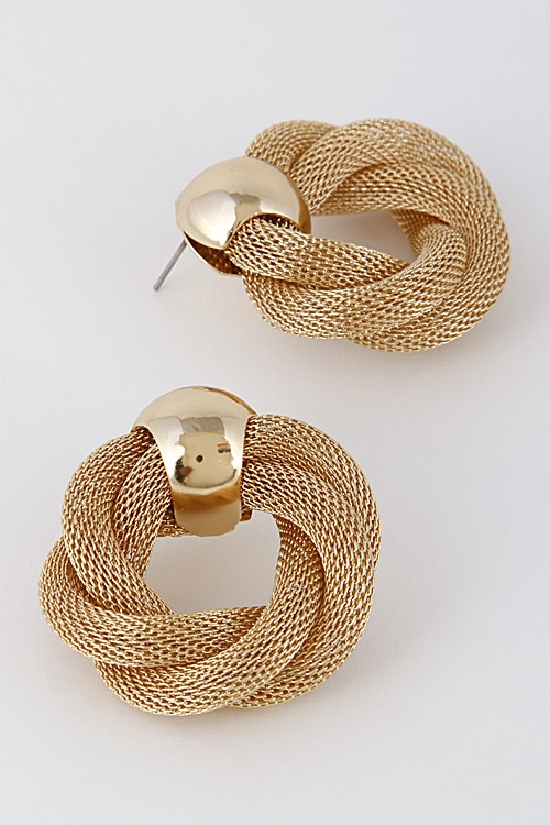 Twisted Formal Earrings  - orangeshine.com