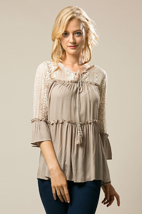 lace tunic - orangeshine.com