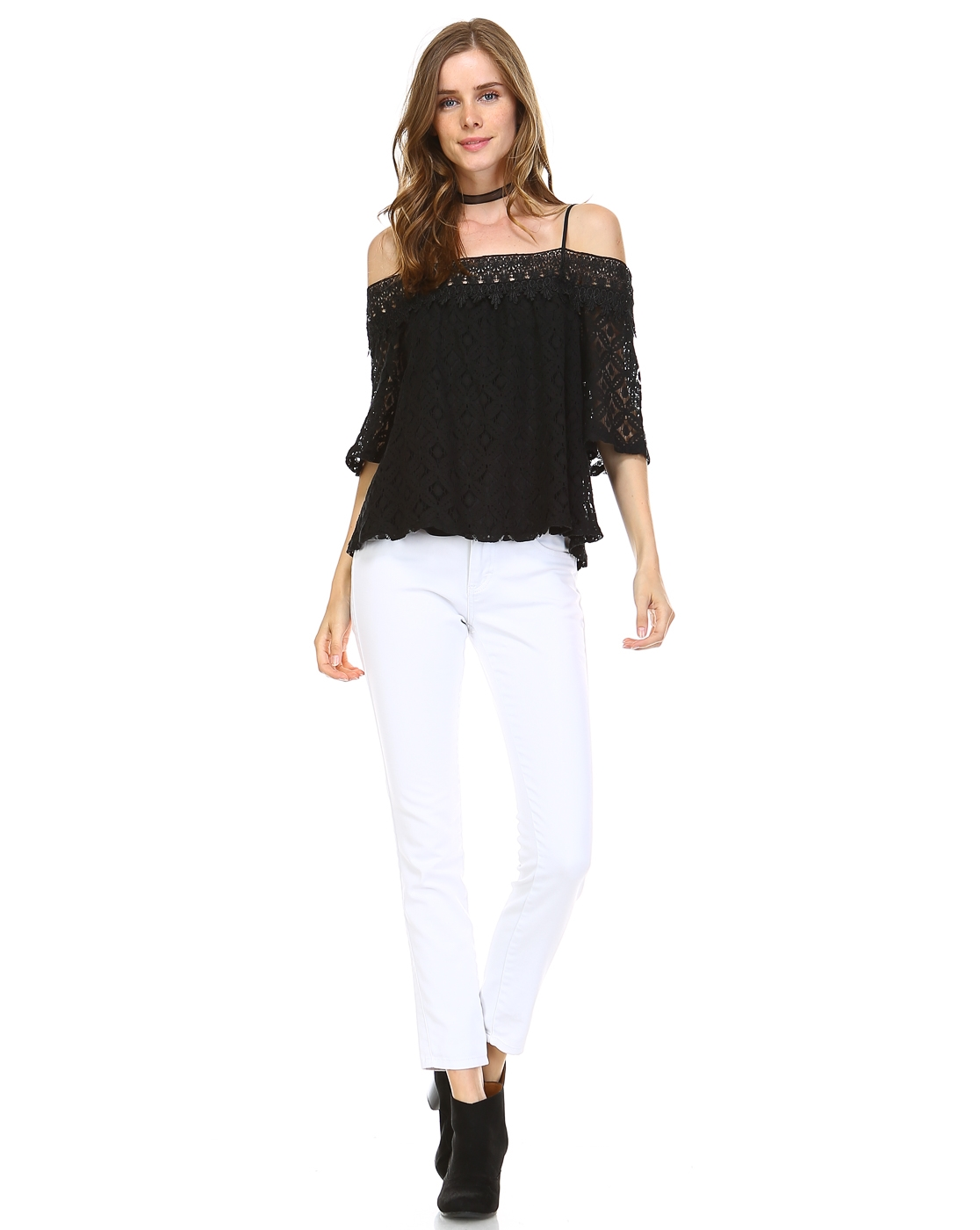 LACE OFF THE SHOULDER TOP - orangeshine.com