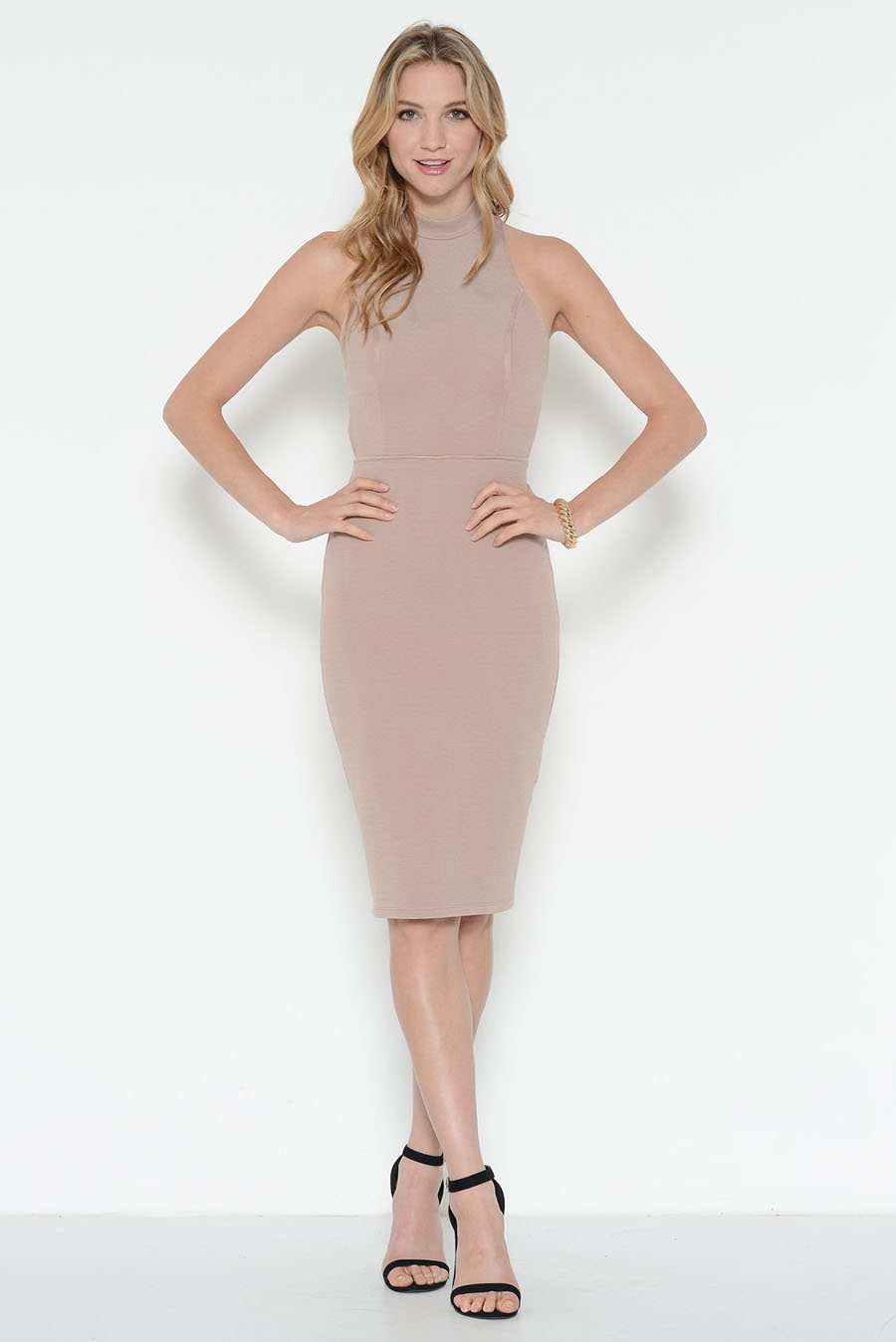 CROSS BACK MIDI DRESS - orangeshine.com