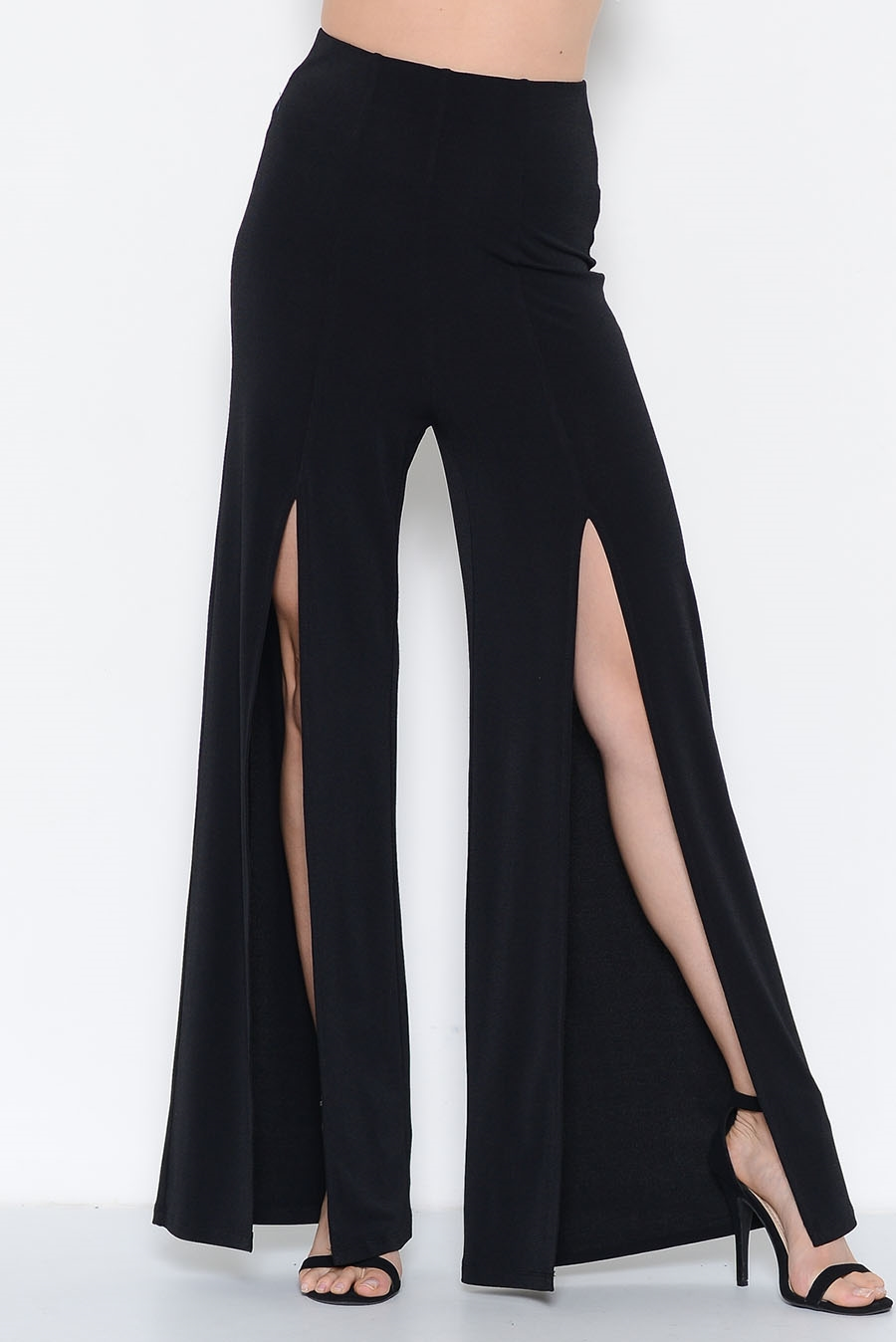HIGH WAIST SLIT SIDE PANTS - orangeshine.com