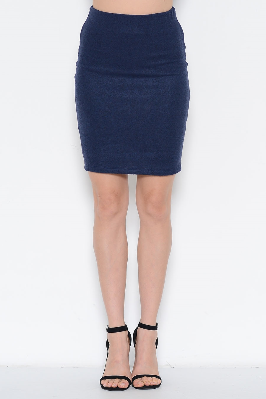 BRUSHED FITTED SKIRT - orangeshine.com