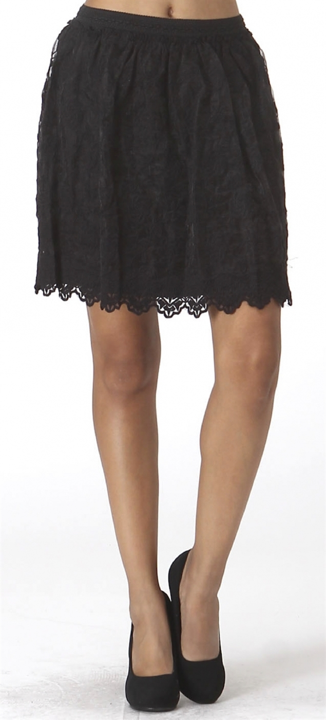 Womens Organza Lace Skirt - orangeshine.com