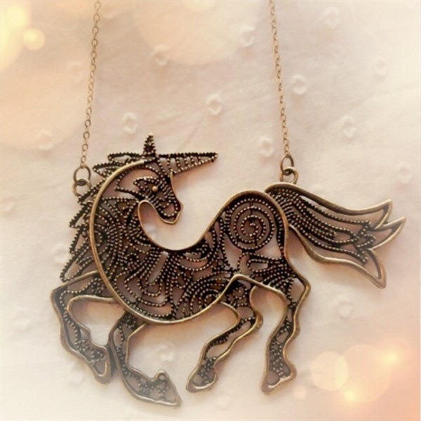 Unicorn Bib Necklace  - orangeshine.com