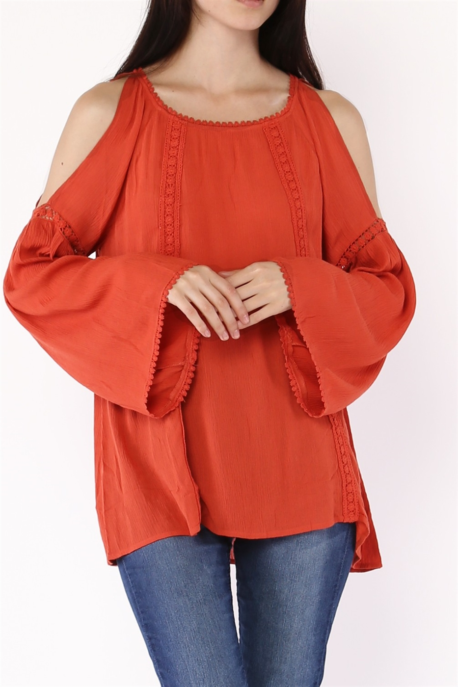 CUT OUT SHOULDER TOP - orangeshine.com