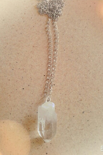 Rock Crystal pendant necklace - orangeshine.com