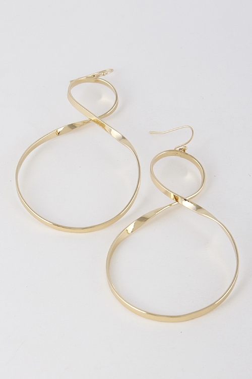 Simple Hook Infinity Earrings - orangeshine.com