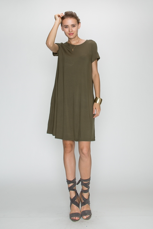 BAMBOO SHORTSLV POCKET DRESS - orangeshine.com