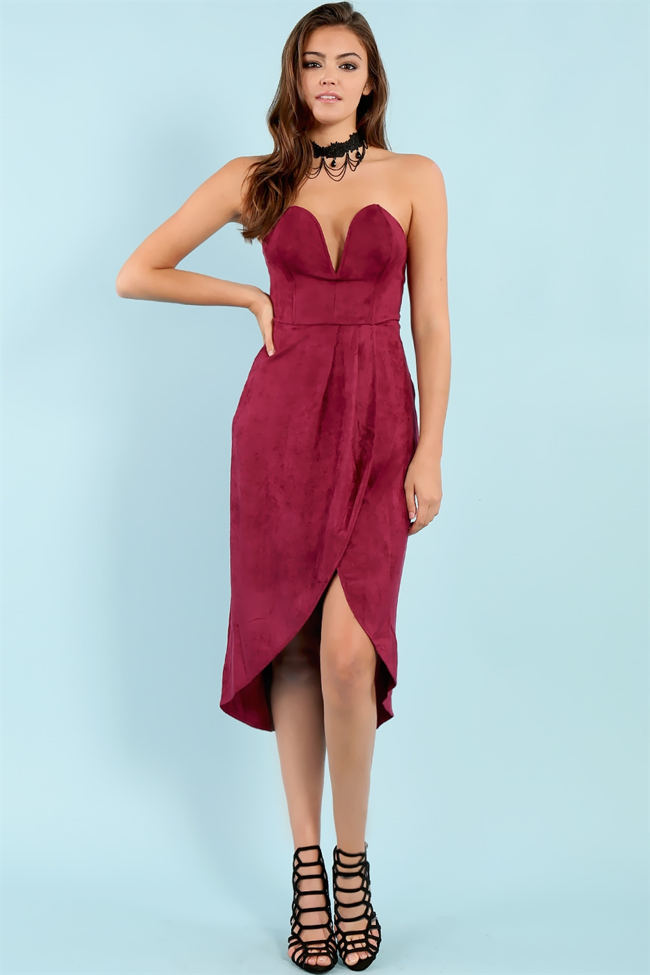 Suede Tulip Dress - orangeshine.com