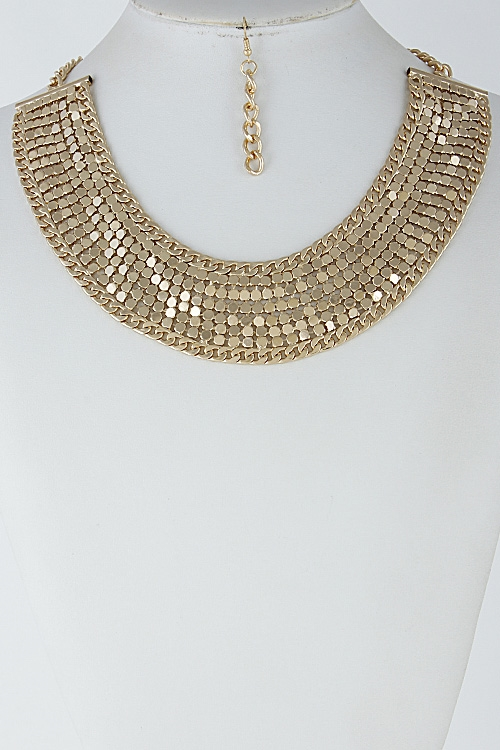 Egypt Inspired Shiny Necklace - orangeshine.com