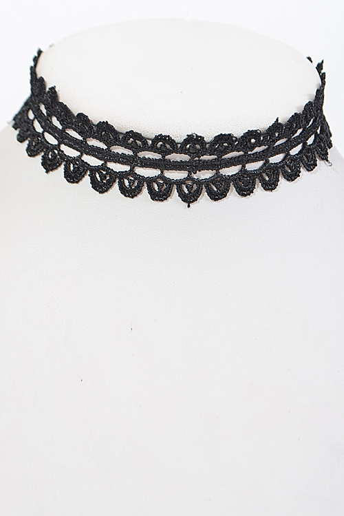 Multi Layer Lacy Choker - orangeshine.com