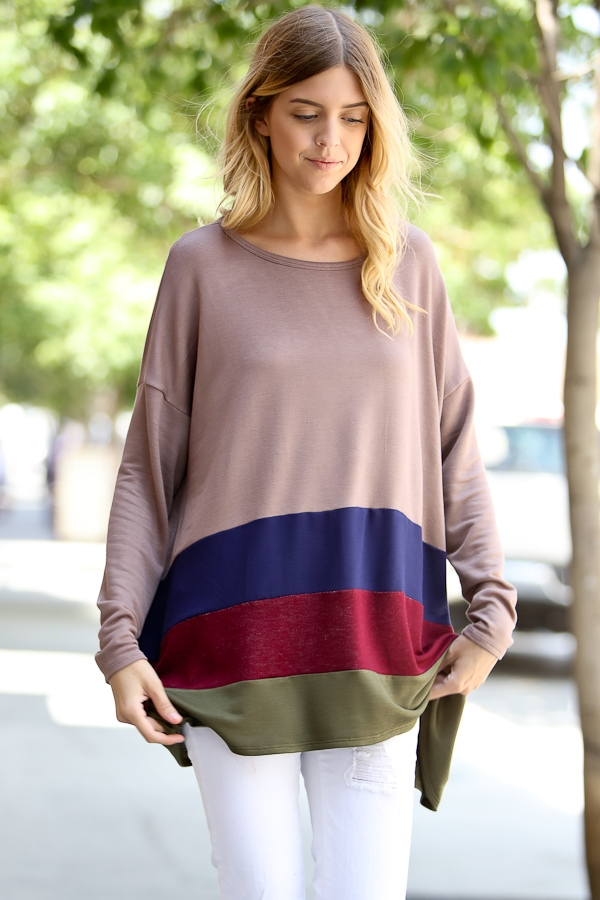 Long sleeve tunic top - orangeshine.com