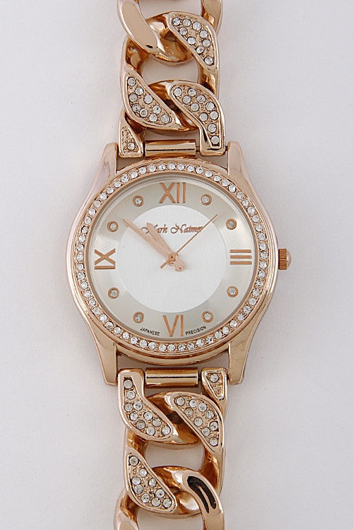 Braided Rhinestone Watch - orangeshine.com