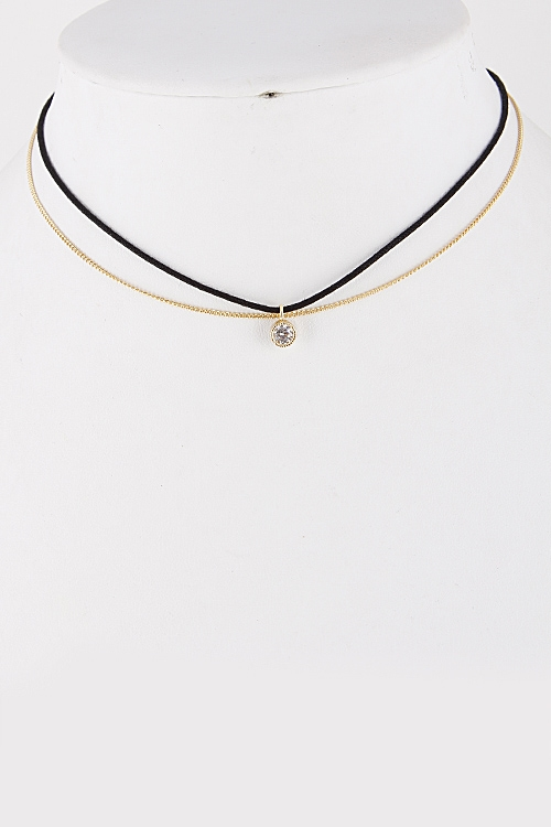 Layered Choker Necklace - orangeshine.com