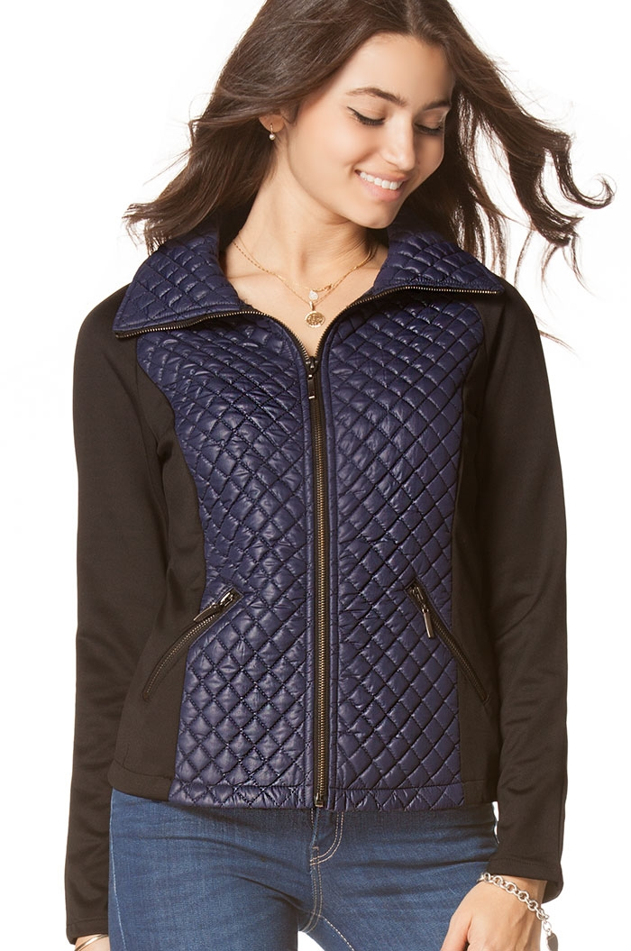 Quilted Nylon Zip-Up - orangeshine.com