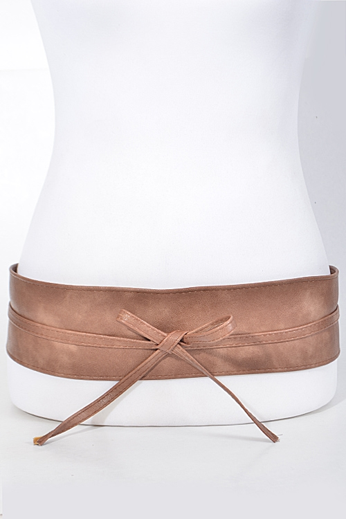 Simple Thick Belt with Ribbon - orangeshine.com