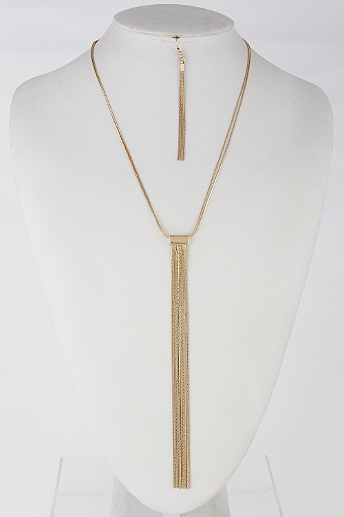 Long Necklace with Tassel - orangeshine.com
