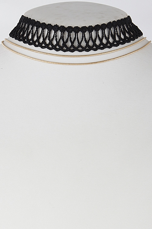 Thick Open Patterned Choker - orangeshine.com