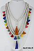 Multi Layer Bead Necklace - orangeshine.com