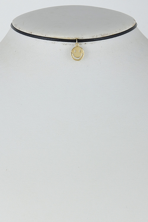 Thin Smiley Face Choker - orangeshine.com