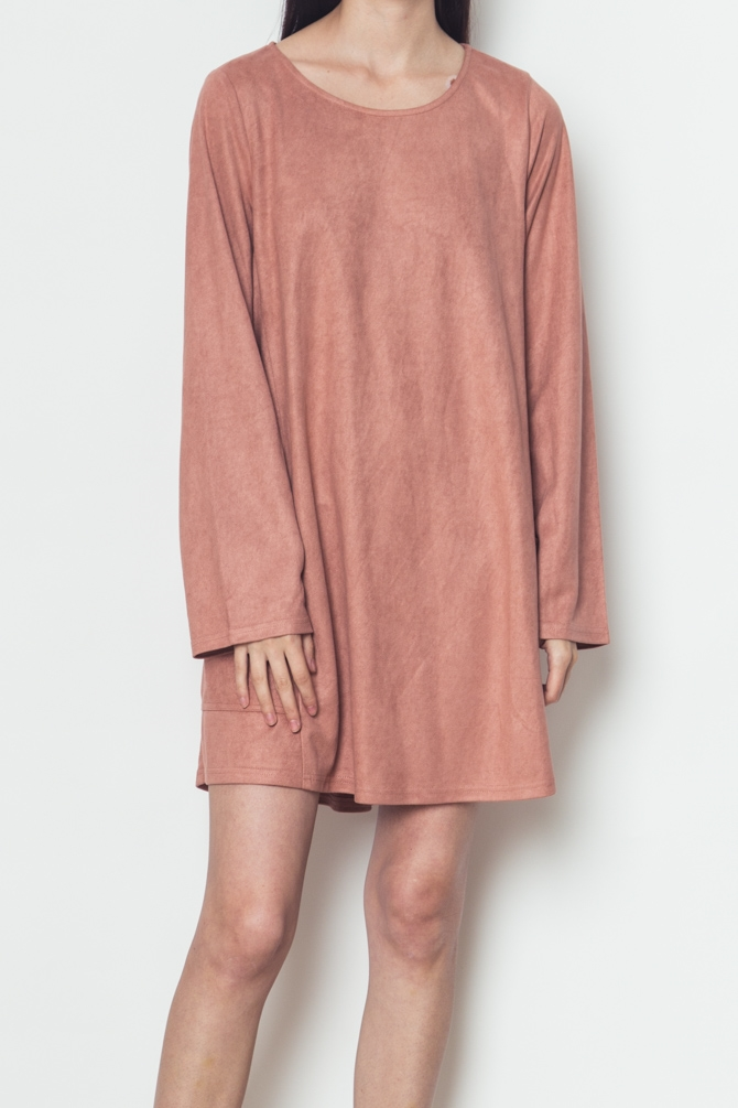Pocket Detailed flare  dress - orangeshine.com