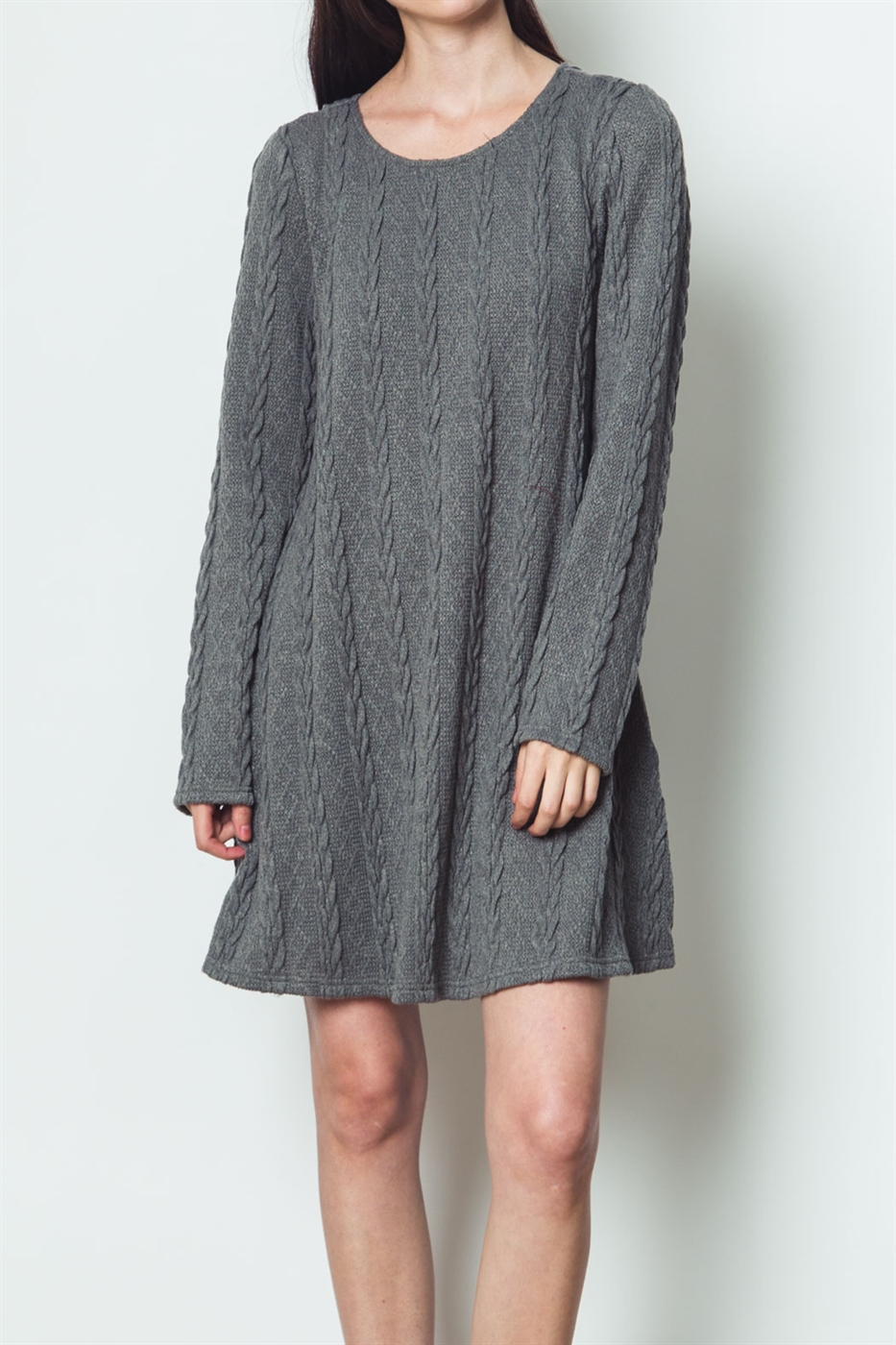 FLARE LONG SLEEVE DRESS - orangeshine.com