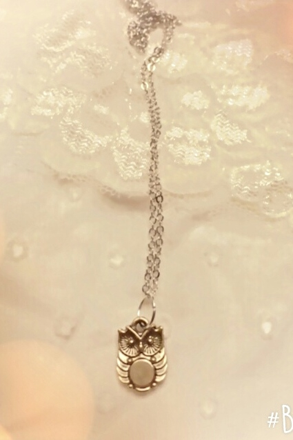 Tiny Gold Owl necklace  - orangeshine.com