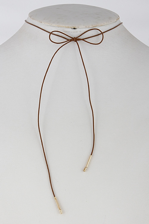Daily Long Thin Bow Choker 6GA - orangeshine.com