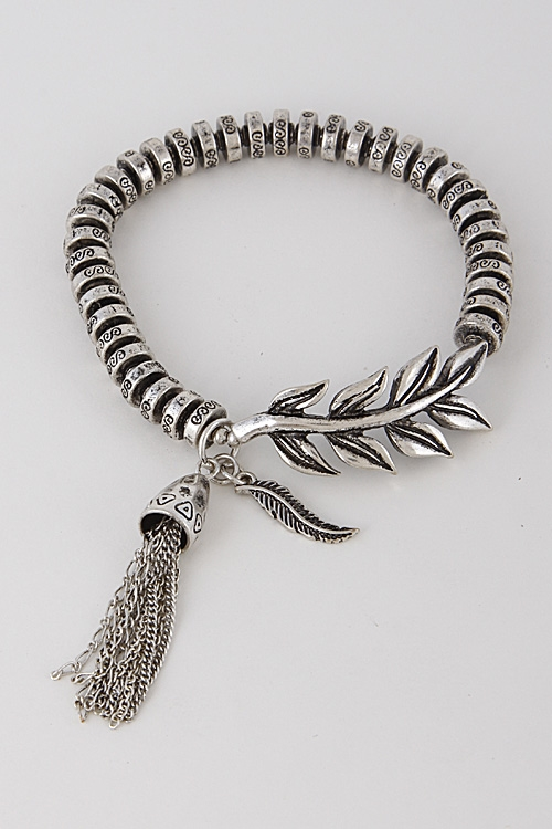 Simple Patterned Leaf Bracelet - orangeshine.com