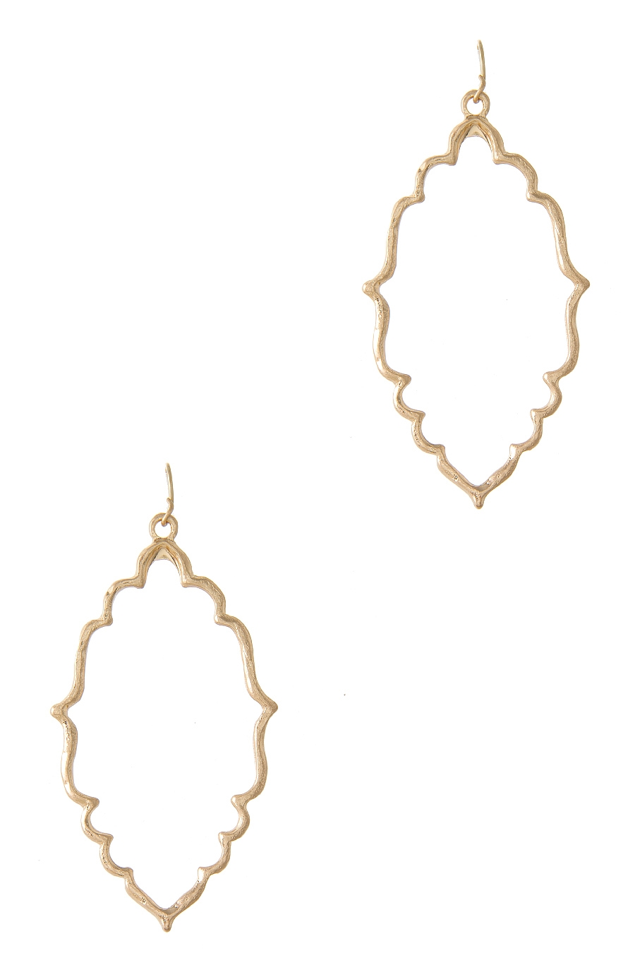 FILIGREE SHAPE HOOK EARRING - orangeshine.com