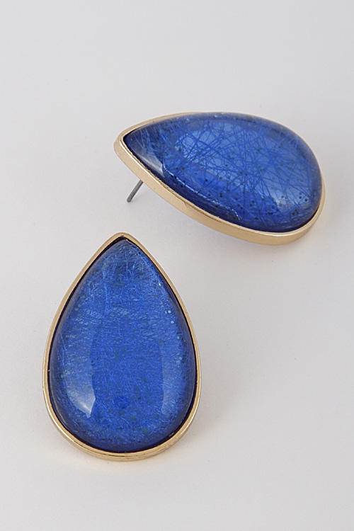 Tear Drop Stone Earrings - orangeshine.com